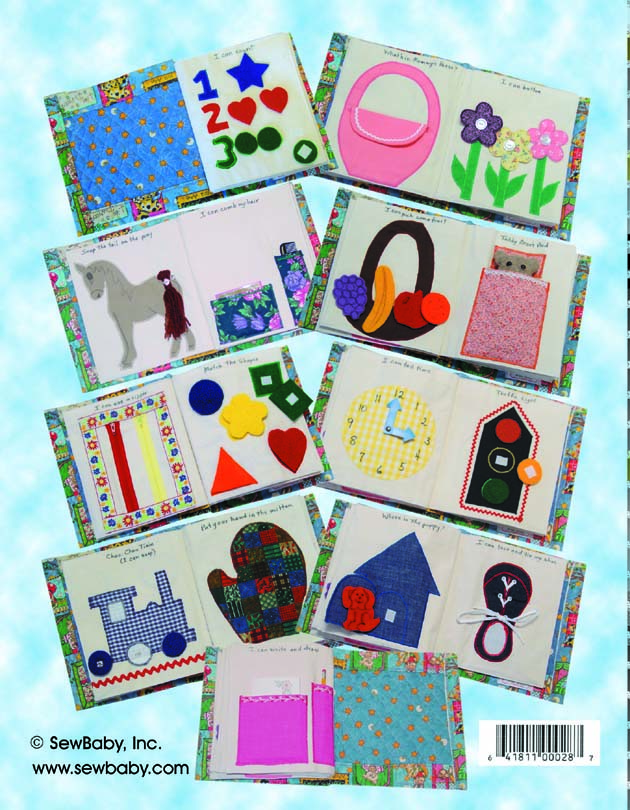 Sew Baby - I Can Do It Cloth Activity Book pattern by Sewbaby