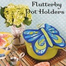 Flutterby Pot Holders Sewing Card Pattern