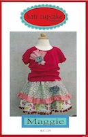 Girly Girl Top & Skirt Pattern -- CreateForLess