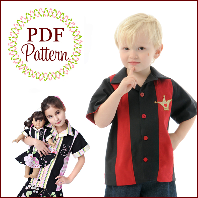 Sew Baby - Bowling Shirt by Scientific Seamstress