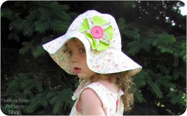 Sew Baby - Floppy Flower Sun Hat  Newborn- Child E-Pattern a5ba49a6bfc