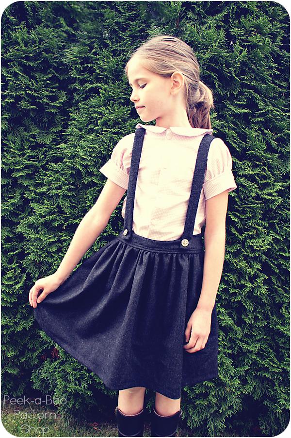 Sew Baby Molly Schoolgirl Skirt 3 Mos 8 Years E Pattern