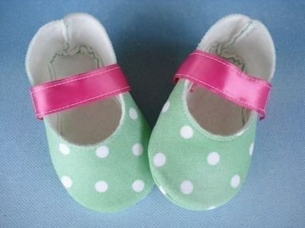Sew Baby 49022 Mary Jane Shoes W Ribbon Strap