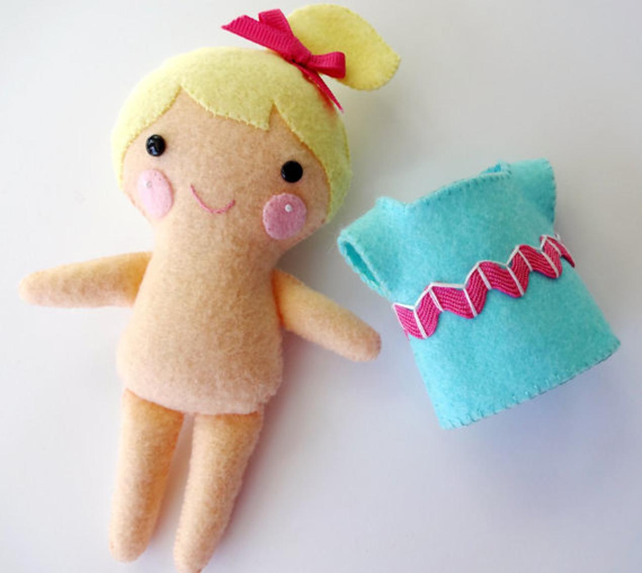 Sew Baby The Janey Doll Felt Softie E Pattern