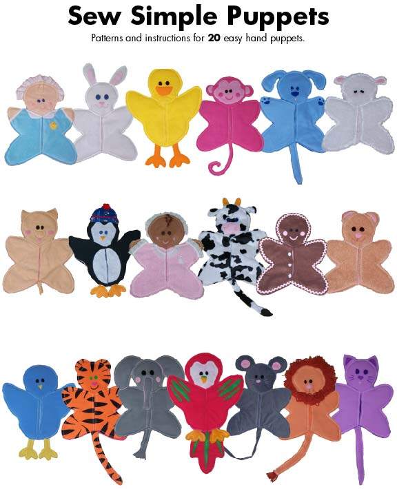 Sew Baby Sew Simple Soft And Sweet Hand Puppet Pattern Classy Hand Puppet Pattern