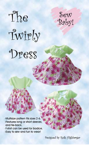 2127a417a Sew Baby - The Twirly Dress pattern by Sewbaby