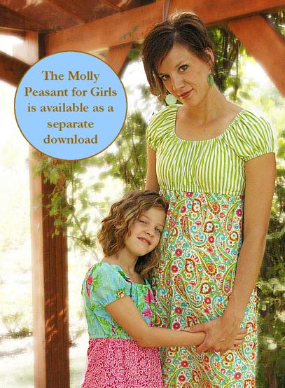 Sew Baby - Meghan Peasant Dress for Women by SisBoom