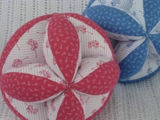 Sew a Fabric Baby Grab Ball - Free Pattern & Directions